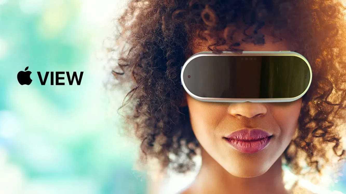 Ilustração dos óculos de Realidade Aumentada da Apple