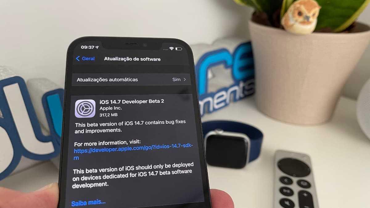 Imagem do iPhone 12 Pro da Apple com iOS 14.7 beta 2
