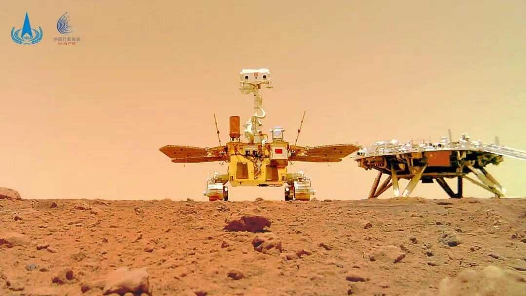 Le rover chinois Zhurong sur Mars a pris un selfie comme jamais auparavant