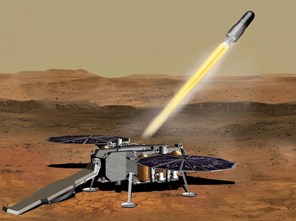 Formes d'ascension de Mars pour Mars Sample Return Quest
