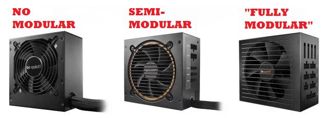 non modulaire vs modulaire