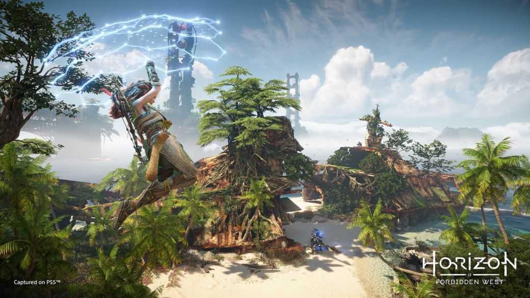 """Horizon Forbidden West s'est centré """"beaucoup"""" développement sur PS4 ;  Améliorations PS5"""