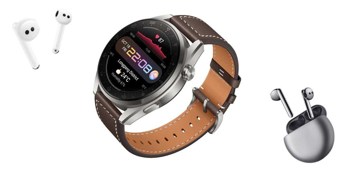 Huawei Watch 3 et FreeBuds 4, parier sur le haut de gamme des wearables