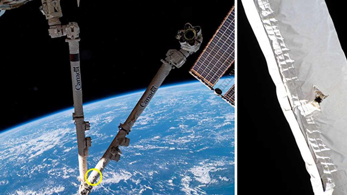 Des débris spatiaux endommagent le bras de la Station spatiale internationale