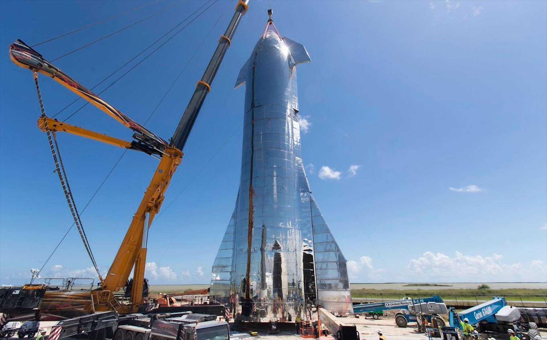 Spacex Commence Lassemblage Du Premier Prototype Falcon Super Heavy
