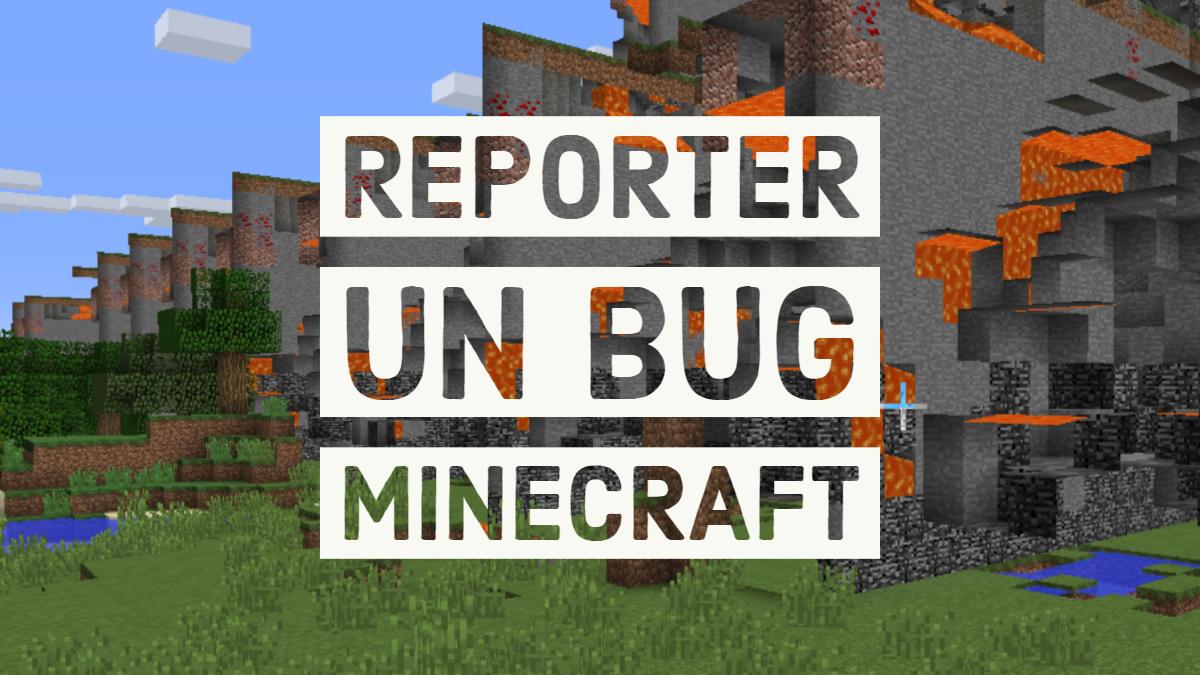 ¿Cómo informo de un error a Mojang?  • Minecraft.fr