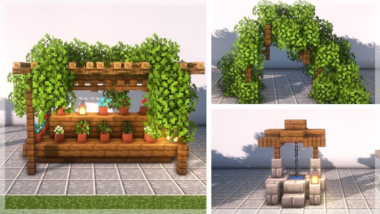 30 consejos para construir / decorar un jardín en Minecraft • Minecraft.fr
