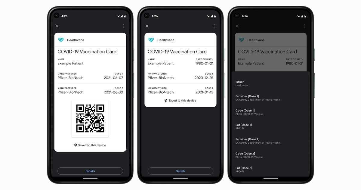 Android vous permet désormais d'enregistrer les certificats de vaccination sur votre mobile avec Google Pay
