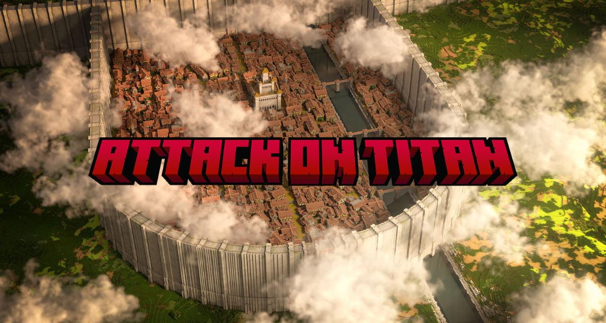 Le District de Shiganshina de l'Attaque des Titans dans une map Minecraft