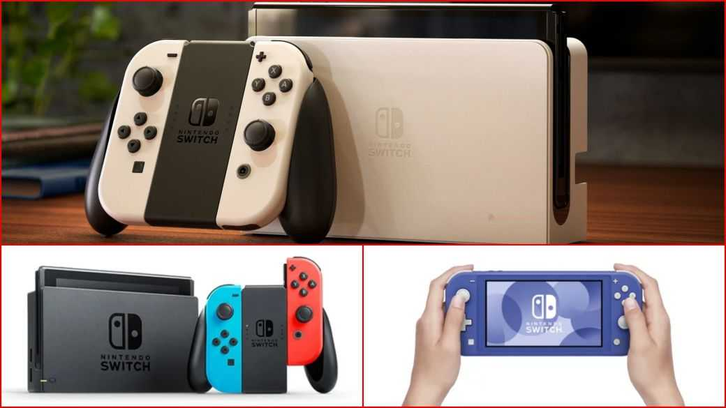 Nintendo Switch OLED comparativa técnica otros modelos lite