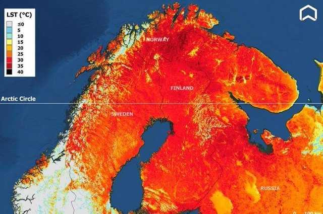 Températures Infernales Au Cercle Polaire, Plus De 33°c En Laponie